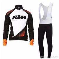 pantalones largos jersey mtb al por mayor-2017 KTM jersey de ciclismo ropa de bicicleta camisa de manga larga bib pantalones conjunto hombres ciclismo ropa mtb maillot ropa ciclismo Hombre G0702