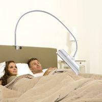yatak takımları toptan satış-360 Rotasyon Ayarlanabilir 100 cm Tablet PC Standı Tam Metal Tembel yatak Masa Dirseği 3.5-10.6 inç Telefon Tutucu için iPad Hava Mini 4