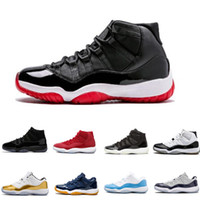 ingrosso tappi in tessuto-Scarpe firmate Cap and Gown 11 XI 11s PRM Heiress Black Stingray Gym Red Chicago Midnight Navy Space Jams Men Basketball Shoes Sneaker