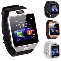 цена мобильного телефона оптовых-Заводская цена DZ09 Smart Watch цифровые мужские часы для Apple iPhone Samsung Android мобильный телефон Bluetooth SIM-карты TF камеры