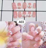 arte de uñas francés al por mayor-Moda 3D uñas falsas Uñas falsas Consejos de arte de uñas de plástico Cubierta completa falso francés consejos de arte de uñas Novia Dedo Belleza
