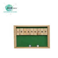 Wholesale Green Board Games - Classic Shut The Box Wooden Board Game Dice Family Gift Educational Toys BestI Ntelligence Children Toys