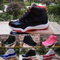 erkek ayakkabıları 11 toptan satış-Nike air jordan 11 retro Toptan 11 Balo Gece Spor Salonu Kırmızı Midnight Donanma Siyah Stingray Getirmek Concord Uzay Reçel Ayakkabı 11 s Womens Çocuk Basketbol Sneaker