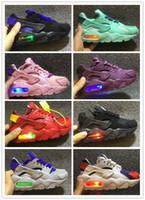 ingrosso sneaker leggero lampeggiante-Flash Lighted Kids Air Scarpe da corsa Huarache Scarpe da corsa per bambini Infant huaraches outdoor toddler athletic boy girls sneaker