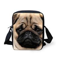 ingrosso grande stampa 3d-Noisydesigns 2018 Fashion Big face dog Stampa 3D Cinghie con tracolla per il trasporto di borsa a tracolla Comfort stampe animalier G
