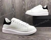 Wholesale woman shoes size 43 - Luxury Brand Original Box White Black Back Platform Casual Shoe Man Platform Pink Gold Lace up Low Cut Women White sneaker Size 35-43