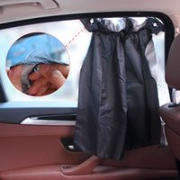 Wholesale car window visors - Pair of 2Pcs Car Sun Shade Curtain UV Proof Side Window Cloth Curtain Sun Visor Adjustable 52 cm x 75 cm Flexible