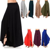 Wholesale High Waist Pleated Pants - 2018 Elegant Irregular Ruffles Wide Leg Pants Women High Waist Pleated Pants Femme Casual Loose Streetwear Trousers