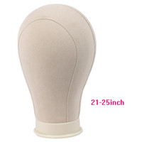 Wholesale Foam Mannequins - WYF Canvas Block Mannequin Head Canvas Head for Wig Dispaly Hair Extensions Tools Mannequin Manikin Head White Color