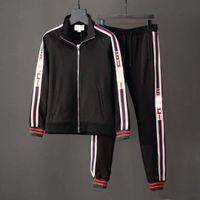 Wholesale Brand Suits For Men - .2018 brand designer Men's jogging suits medusa printed shark hoodies sweatshirt slim fit tracksuits for men jacket sweatshirts
