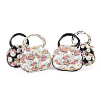 Wholesale floral clocks - 1PCS Retro Women Bag Fashion Printed Floral Clock Shoulder messenger Bag Handbag Casual Travel beach Bags bolsa Clutch