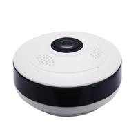 sistema de vigilancia hd al por mayor-2018 Fisheye VR cámara panorámica HD 960P 1.3MP Wireless Wifi Cámara IP Sistema de vigilancia de seguridad para el hogar Cámara Wi-Fi de 360 grados Webcam V380
