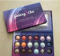 Wholesale 18 color eyeshadow - New Galaxy Chic Eye shadow palette 18 color Baked Eyeshadow Palette Galaxy Chic Baked eyeshadow palette shipping free