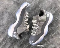 Wholesale Carbon Material - 2018 Wholesale Low Cool Grey Basketball Shoes For Men Authentic Sneakers Real Carbon Fiber With Original Box Original Material Hot Sale