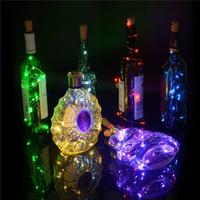 bar ışıkları satılık toptan satış-Şişe ışıkları Lamba Mantar Şekilli Şişe Stoper Işık Cam Şarap Bar için LED Bakır Tel Dize Işıkları Christams Parti Düğün Dekorasyon satış