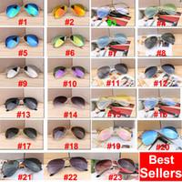 hots sport männer großhandel-DHL, Europa und die USA heiße Sonnenbrille, Sport Radfahren Augen-Sonnenbrille für Männer Art und Weise blenden Farben Spiegel-Glas-Sonnenbrille Rahmen