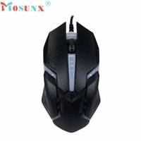 Wholesale X7 Gaming Mouse - Wholesale- Mosunx Advanced mini X7 mouse Wired Optical Gaming Mice Luminous Mouses For PC Laptop 1600 DPI USB 2017 hot sales tablets 1PC