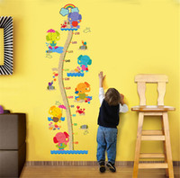 Wholesale Animal Graphics - Elephant Kids Growth Chart Height Measure Wall Sticker For Kids Rooms DIY Home Decoration Pegatinas Paredes Decoracion