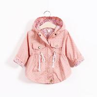 bebek panço paketi toptan satış-Yeni Bebek Kız Ceketler Coat Moda Kız Polka Dot Yarasa Gömlek Ceket Çocuk Sıcak Panço Dış Giyim Hoodies Çocuk Giyim 3 Renkler