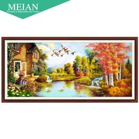 Wholesale united landscaping - United States Coast new 5D cube painted landscape diamond drill room Diamond Cross Stitch embroidered a diamond masonry