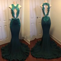 Wholesale pictures pink hearts - Dark Green Sexy Mermaid Prom Dress | Sparkling Sequins Beads Appliques Heart Open Back Cutaway Sides Long Evening Gowns
