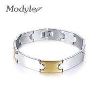 Wholesale metal hand cuffs - Modyle 2017 New Fashion 316L Stainless Steel Mens Bracelet Hand Chain Link Punk Jewelry Metal Bracelets For Men Trendy