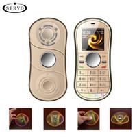 ikili mp3 sim toptan satış-Unlocked cep telefonları Parmak çift gyro Çift kart ile Çift bekleme mini Taşınabilir parmak Gyro cep telefonu