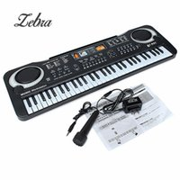 Hot selling Black 61 Keys Music Electronic Keyboard Key Board Kids Gift Electric Piano Gift With Mini Microphone For Child Kid Musical Organ
