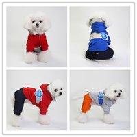 ropa de nieve al por mayor-S-XXL Euramerican traje de perro mascota otoño invierno ropa para perros ropa de algodón acolchado de alta calidad capa de nieve cálido perros ropa