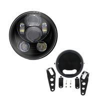 Wholesale projector kit hid online - Headlight quot Inch Motorcycle Projector High Low HID LED Front Driving Headlamp Head Ligh Bracket for For Harley