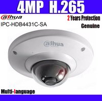 dahua ip dome kamera großhandel-Dahua IPC-HDB4431C-SA 4MP H.265 Mini-Dome IP-Kamera eingebaute Mikro PoE Netzwerk-Dome-Sicherheit Multi-Sprache-Kamera
