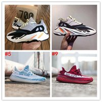 Wholesale Red Christmas Table Runner - Orignal 2017 Boost 700 Kanye West Wave Runner Boost 350 V2 Sneakers Authentic Sply 350 Running shoes Christmas gift size 36-46