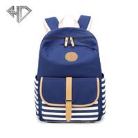 Wholesale pretty backpacks for girls for sale - Group buy Stripe Backpack School Bags For Girls Canvas Backpack Women School Pretty Style Schoolbag Teenage Backpacks E5F9