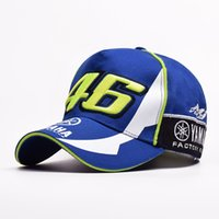 Wholesale motorcycle 46 - VR-46 explosion models YAMAHA racing motorcycle sport cap two is left under the white peaked cap 46 round