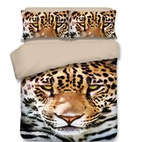 Wholesale tiger bedding king for sale - holiday birthday Gift cool tiger pattern bedding set duvet Quilt Cover with pillowcase Twin full Queen King size