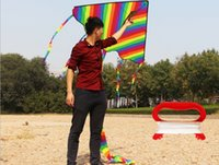 Wholesale games activities kids resale online - Beautiful Rainbow Kite For Kids One Of The Best Selling Toys For Outdoor Games and Activities Good Plan For Memorable Summer Fun