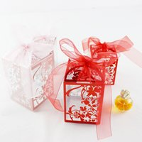 Wholesale gift wrapping plastic for sale - Transparent Sugar Box Plastic Sweet Gift Wrap DIY Creative Romantic Baby Shower Candy Boxes Party Supplies Wedding Favor sm bb