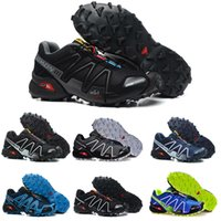 Wholesale pcs cs - Salomon Speed Cross 3 CS III Mens Running Shoes Black Grey Green Men Outdoor Crosspeed 3 sneakers