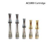 хорошие капельницы оптовых-Хорошее качество AC1003 картридж 0.5 мл 1.0 мл серебро золото металл капельного наконечника Pyrex стеклянная трубка бак с хлопчатобумажной или керамической катушки 510 распылитель