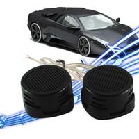 Wholesale tweeter speakers car audio - Universal High Efficiency 2x Car Mini Dome Tweeter Loudspeaker Loud Speaker Super Power Audio Auto Sound car tweeters