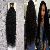 extensiones de cabello fusión 1g al por mayor-Extensiones de cabello de color Natural Deep Wave I Punta 100g 1g / strand Punta I cabello de fusión pre consolidado 10-26
