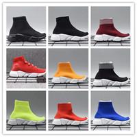 çocuklar örme çorap toptan satış-Bebek Çocuk Çocuk koşu ayakkabıları Hız çorap Yüksek Sneaker Tess Mesh açık Spor ayakkabı toddler erkek kız Eğitmen streç-örme