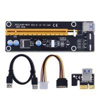 кабели sata ide оптовых-60 см PCI-E PCIe PCI Express Кабель-удлинитель Riser USB 3.0 от 1x до 16x с разъемом Sata to 4Pin IDE Molex для BTC Miner RIG OTH814