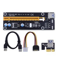 Wholesale 60cm PCI E PCIe PCI Express x to x Riser USB Extender Cable with Sata to Pin IDE Molex Power Supply for BTC Miner RIG OTH814