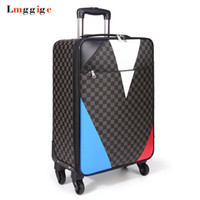 Wholesale Suitcase Rolling Luggage - New Travel Suitcase Bag,Women Trolley Case ,Fashion Rolling Luggage ,Men PU Commercial Box with wheels