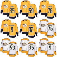 Wholesale fisher hockey - men youth womens Nashville Predators 76 PK Subban 35 Pekka Rinne 12 Fisher 9 Forsberg 35 Pekka Rinne 59 Roman Josi 92 Johansen Hockey Jersey