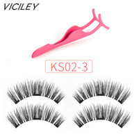 aad09ab81cc Wholesale patch hair for sale - Hot VICILEY Magnetic eyelashes false  eyelashes make up tool patches