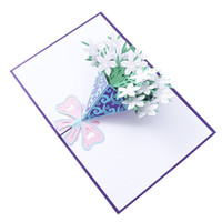 Wholesale free happy birthday card for sale - Group buy 3D Pop Up Cards Valentine Lover Happy Birthday Anniversary Greeting Cards For Birthday Valentine Holiday hot sale new
