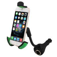 cargador de teléfono celular del coche cigarrillo al por mayor-Cargador dual del coche del USB Soporte para teléfono Soporte del encendedor de cigarrillos Cunas para teléfonos inteligentes iPhone Samsung etc. GPS