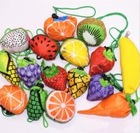 Wholesale fruit bags resale online - Foldable Reusable Shopping Bags Fruits Tote Eco Storage Grocery bags Shopping Tote Drawstring Handbag FFA674